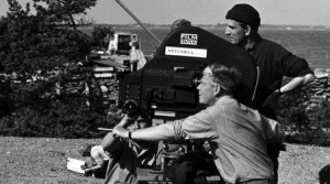 Black and White Photo of Film Shoot