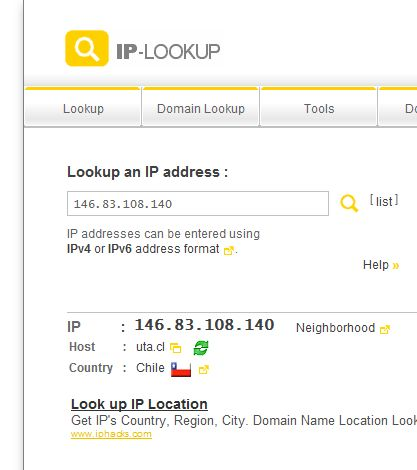 IP Address Lookup