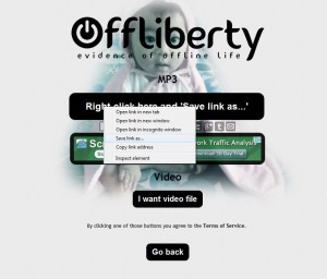 The right click menu at offliberty.com