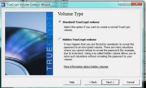 Menu for TrueCrypt  3