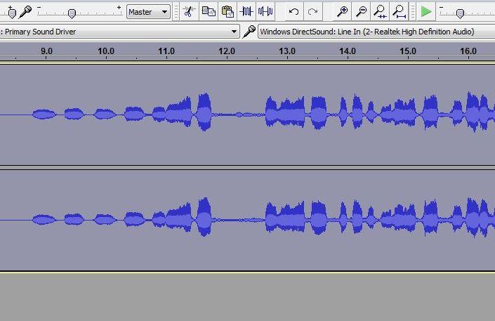 Photo of sound bit in Audacity