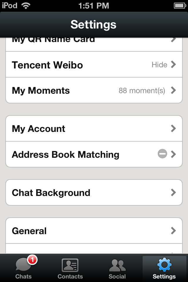 Link wechat and facebook photo of link wechat with facebook 1 press my account ccuart Gallery