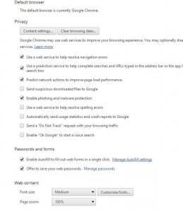 Photo of Chrome Autofill Settings