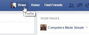 Photo of Facebook name