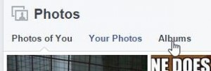 Photo of Facebook Albums link