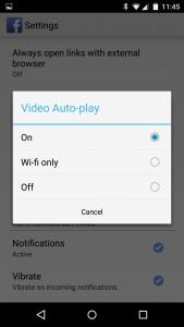 Photo of Video Auto-play off