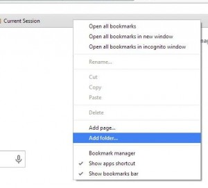 Photo of bookmark bar.