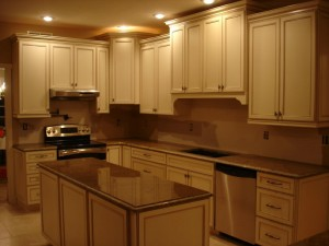 beautiful staggered cabinets