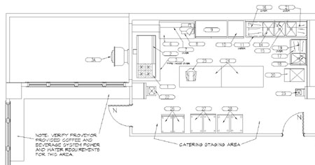A Black And White Plumbing Plan For A Kitchen